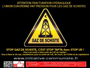 L'UE fait pression pour les gaz de schiste : contre l'environnement, pour les multinationales !