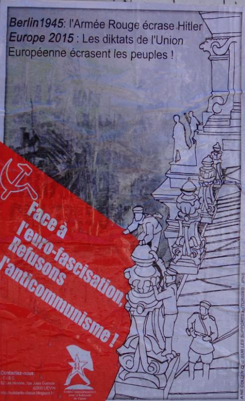 affiche ukraine CISC anticommunisme antifascisme euro fascisation