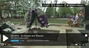 Ukraine : chasse aux russes et assassinat de journalistes, les méthodes de la junte pro-UE. Et c'est ARTE qui le dit !