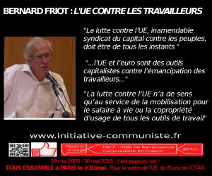 """""""La lutte contre l'UE, inamendable syndicat du capital contre les peuples, doit être de tous les instants""""Entretien avec Bernard Friot : Salaires, cotisations sociales"""
