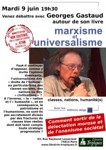 """Georges Gastaud """"Marxisme et Universalisme"""" // 9 juin – #Paris #Conférence"""
