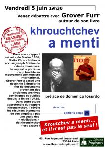 Khrouchtchev a menti et autres recherches sur l'Union soviétique par G Furr #conférence #Paris #5 juin
