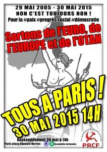 29 mai 2005 – 30 mai 2015 : Non c'est toujours Non! les appels au rassemblement à Paris Place E Herriot !