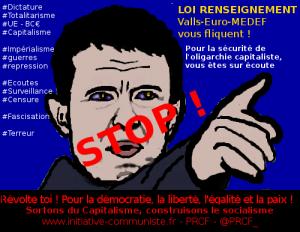 #PJLrenseignement  : A BAS LE « PATRIOT ACT » de VALLS-CAZENEUVE ! #vidéo
