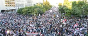 23 juin, contre le nouveau memorandum de la Troika UE Euro FMI, manifestations en Grèce à l'appel du PAME .