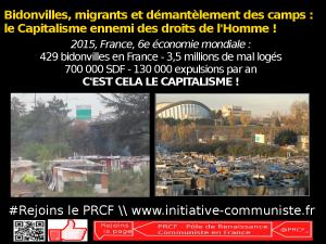 Bidonvilles, migrants et démantèlement des camps : le Capitalisme ennemi des droits de l'Homme !