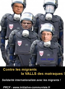 valls matraque migrant