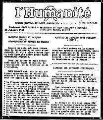 75ème Anniversaire de l'Appel THOREZ-DUCLOS du 10 juillet 1940 – Un appel du PRCF, 9 juillet 2015