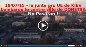 Dans le silence médiatique, Donetsk est toujours sous les bombes de l'Axe euro atlantique #vidéo