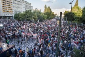 manifestation du PAME manifestation syntagma athène 11 juin 2015
