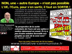 """Europe : """"La sortie volontaire de l'euro est une option à mettre clairement en avant"""" Eric Toussaint (Comité pour l'annulation de la dette) #vidéo #grèce #UE #euro"""