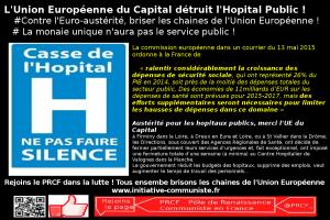 L'euro austérité détruit le service public de la Santé ! surtout ne pas faire silence !