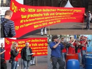 Allemagne : manifestations contre la mise en place d'un protectorat allemand contre le peuple grec