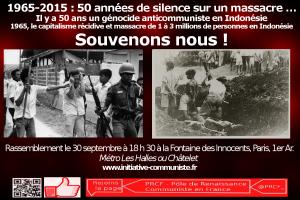 30/09/65 : Génocide des communistes en Indonésie. N'oublions pas ! il y a 50 ans le capitalisme récidive [dossier spécial] #manifestation #paris #vidéo