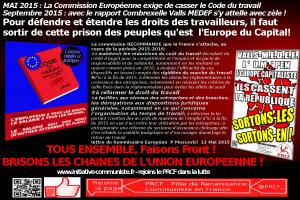 UE code du travail combrexelle prcf