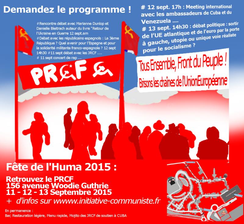 Fête Huma 2015-PRCF