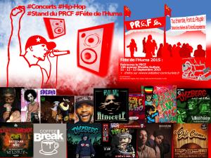 #Hip-Hop : fête de l'Huma 2015 concerts sur le stand du PRCF #FDH15 #concerts