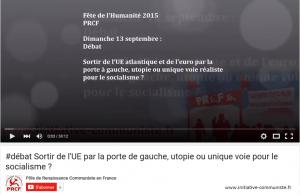 #Europe #vidéo Débat sortir de l'UE par la porte de gauche, utopie ou unique voie pour le socialisme ?  #sortiedeleuro