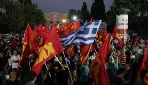 manifestation du KKE place syntagma