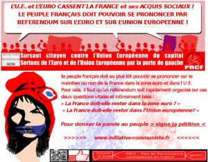 visuel pétition PRCF UE euro