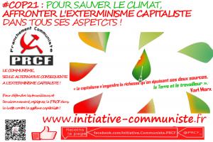 #COP21 : j'aime ma planète et l'humanité, je combats le capitalisme et l'impérialisme !