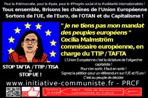 """L'Europe est une dictature : """"je ne prend pas mon mandat du peuple"""" Cecilia Malmström  #stoptafta #ttip #GMT #UE"""