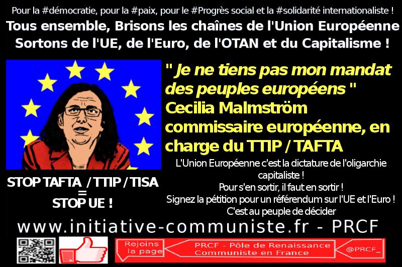 cecilia malstrom TTIP TAFTA UE