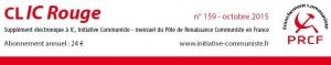 Le CLIC rouge d'Octobre est paru – Spécial Référendum sur l'UE et l'Euro ! [supplément électronique gratuit à Initiative Communiste]