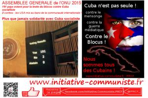 191 voix pour 2 contre : à nouveau la planète exige à l'ONU la levée du blocus de Cuba par les USA !