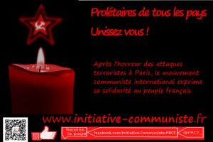 Attentats à Paris: solidarité du mouvement communiste international via ic.fr