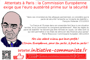 Attentats à Paris : la Commission Européenne exige que le pacte d'austérité prime sur la sécurité