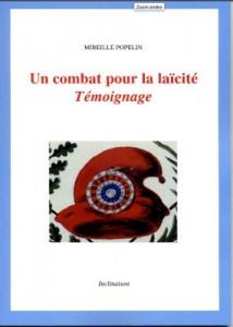 """""""Combat pour la laïcité. Témoignage"""" – Mireille Popelin présente son livre à Villeurbane – 6 novembre 18 à 20h"""