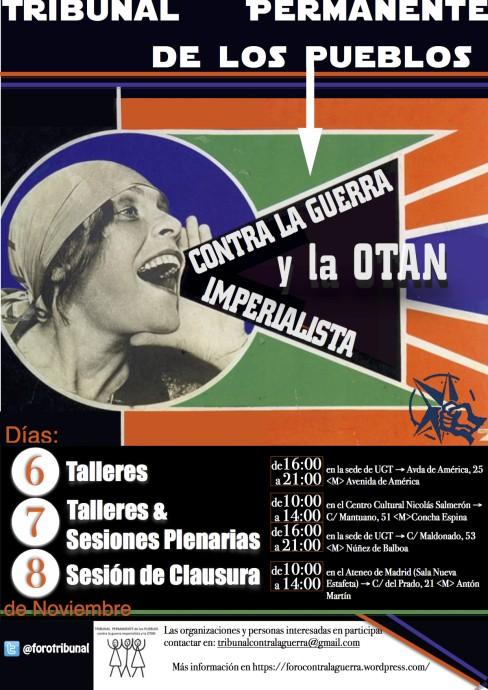 Tribunal des peuples contre l'OTAN Madrid, 6-8 novembre 2015