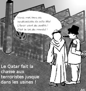 Le Qatar s'attaque aux syndicats en Allemagne !