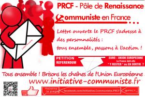 Europe Lettre ouverte le PRCF s'adresse à des personnalités : tous ensemble, passons à l'action !