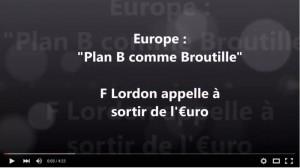 """""""Le Plan B comme Broutille """" Frederic Lordon appelle à la sortie de l'euro ! #planB #UE"""