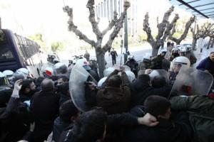 PAME manifestation retraite 8 janvier 2016 police
