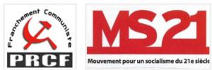 Déclaration commune du  Pôle de Renaissance Communiste en France (PRCF) et du Mouvement pour un Socialisme du XXIe siècle (MS21)