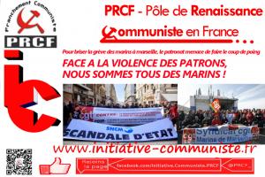 Marseille / Corse : Face à la violence des patrons, nous sommes tous des marins ! le patronat menace d'agresser les marins en luttes