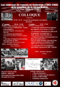 affiche programme colloque indonésie 2016