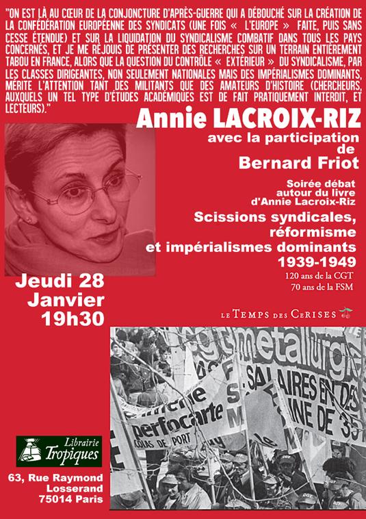 annie lacroix riz bernard friot syndicalisme conférence prcf 2016