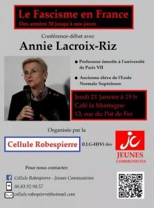 conférence annie lacroix-riz fascisme JC JRCF