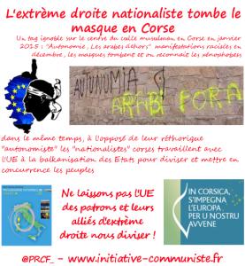 Racisme, on ne veut pas de ça chez nous ! sur les violences en Corse – par Léon Landini
