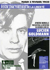 Conférence : « Pour une théorie de la liberté » autour des ouvrages de Lucien Goldmann  [Paris – 2 février 2016]