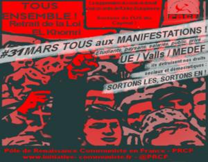 #Manif31mars La carte des manifestations le 31 mars pour le retrait de la #LoiTravail
