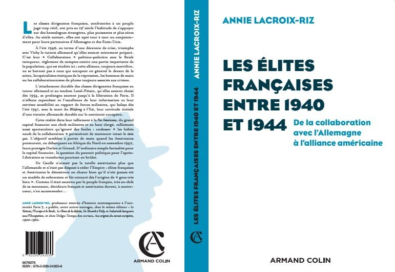 Annie Lacroix Riz les élites françaises entre 1940 et 1944