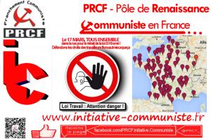 #17mars La carte des manifestations le 17 mars : Tous ensemble #loitravailnonmerci #manifs17mars