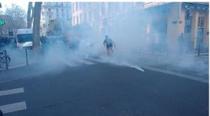 Nuage de gaz contre la manifestation à Lyon - 17 mars