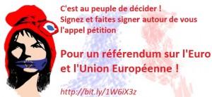 pétition pour un referendum pour la sortie de l'UE