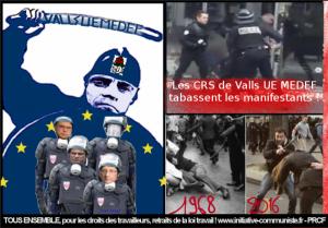 Violences policières : pour la Loi Travail la répression et la force comme seul argument du gouvernement !